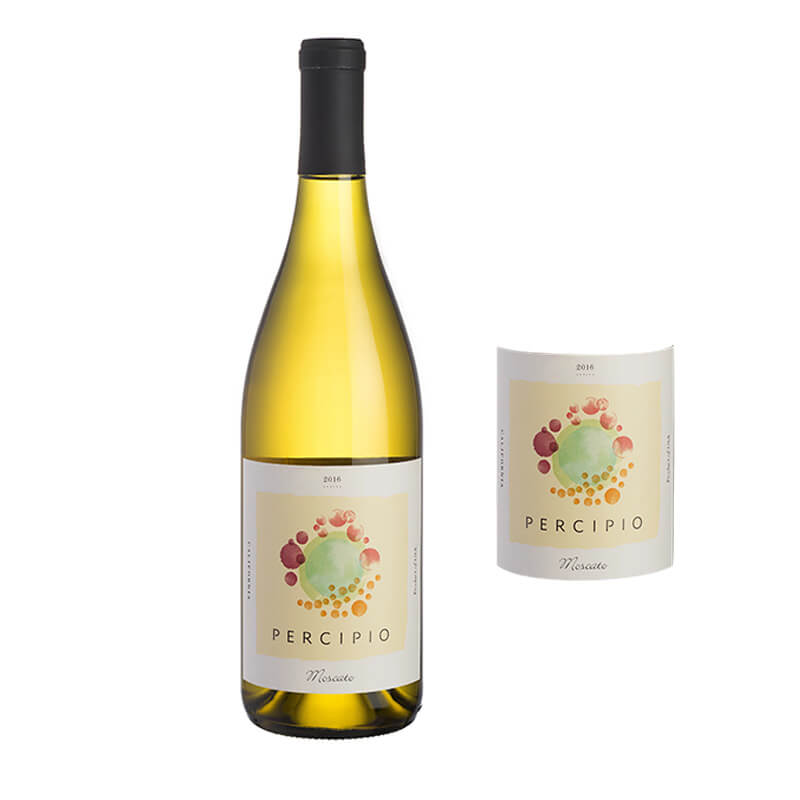 Grape Label With Colorful Printing For Wine Glass Bottle