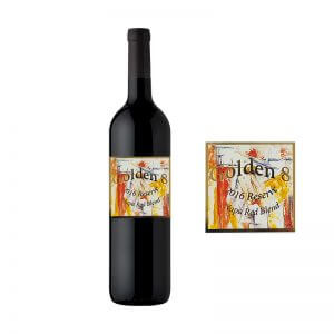 gold foil wine label